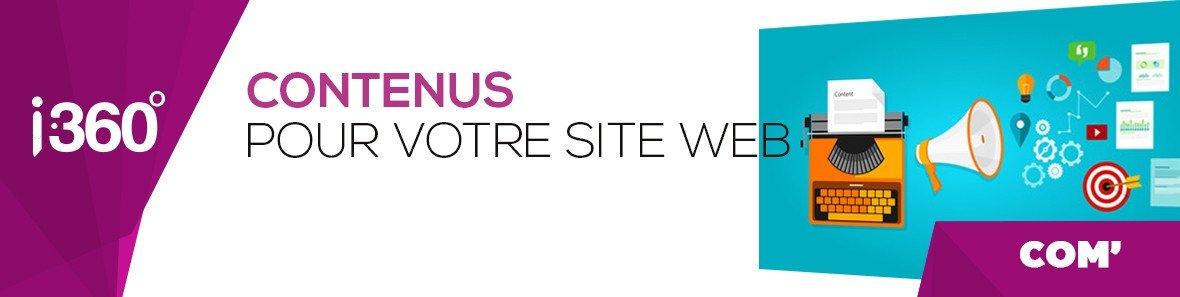 Des contenus pour votre site web