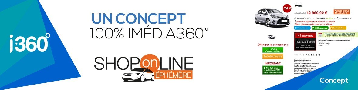 Shop On Line, un concept 100% Imedia 360°