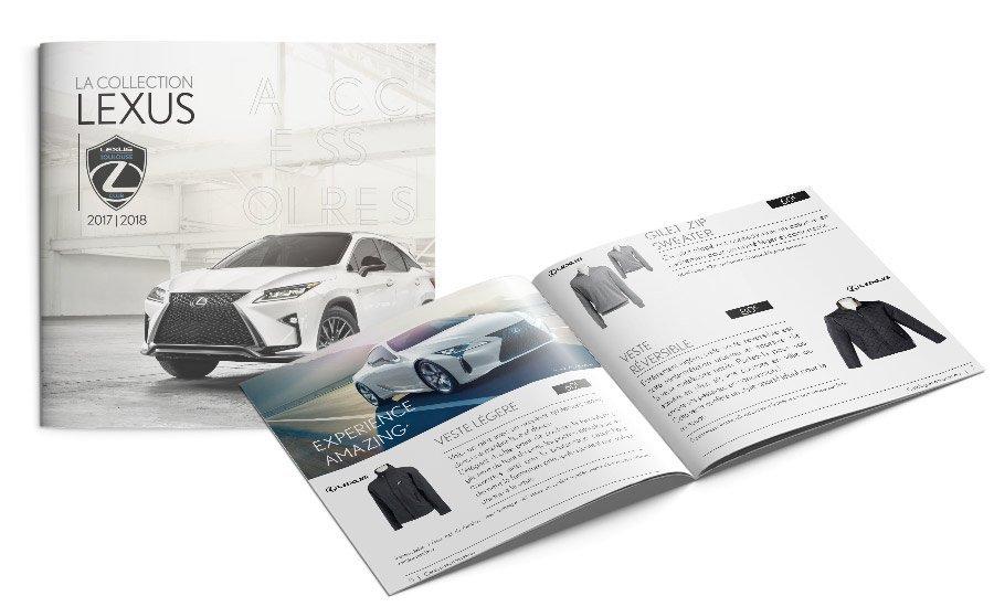 mise en page du catalogue de produits Lexus